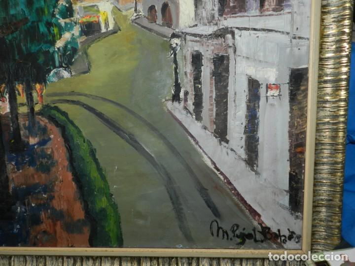 Arte: (M) ÓLEO FIRMADO MANEL PUJOL BALADAS 1947 - FATIMA NUM.7 BARCELONA, ENMARCADO, 93X77CM - Foto 10 - 199358726