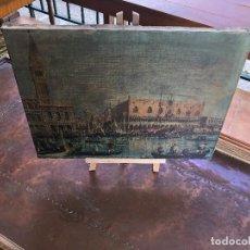 Arte: ARTE COLECCIONABLE. IMPRESIÓN DE OLEO SOBRE LIENZO DEL PALACIO DUCAL DE VENECIA. CANALETTO 1727–1729. Lote 199364665