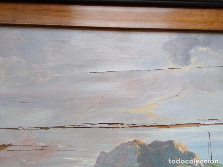 Arte: Magnífica marina del pintor - Francisco Jiménez de Córdoba --- NECESITA RESTAURACIÓN --- - Foto 4 - 199465366