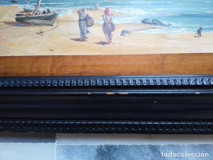 Arte: Magnífica marina del pintor - Francisco Jiménez de Córdoba --- NECESITA RESTAURACIÓN --- - Foto 7 - 199465366