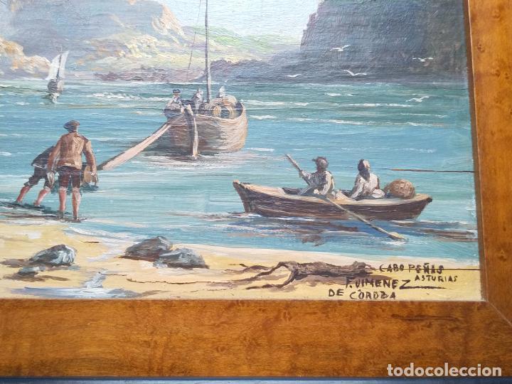 Arte: Magnífica marina del pintor - Francisco Jiménez de Córdoba --- NECESITA RESTAURACIÓN --- - Foto 8 - 199465366