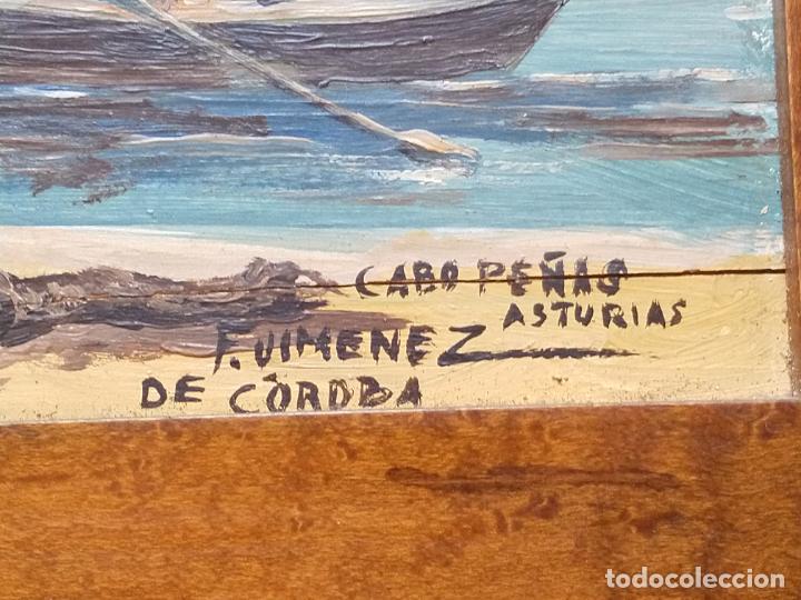 Arte: Magnífica marina del pintor - Francisco Jiménez de Córdoba --- NECESITA RESTAURACIÓN --- - Foto 9 - 199465366
