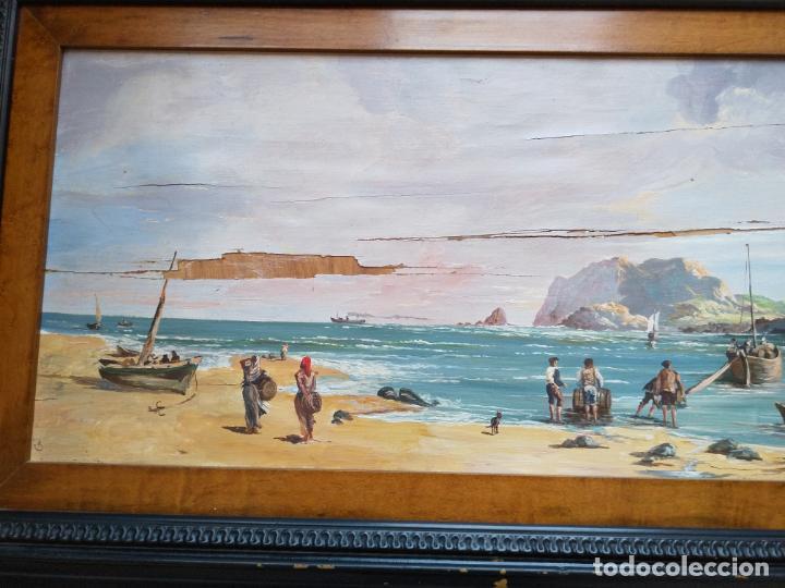 Arte: Magnífica marina del pintor - Francisco Jiménez de Córdoba --- NECESITA RESTAURACIÓN --- - Foto 10 - 199465366