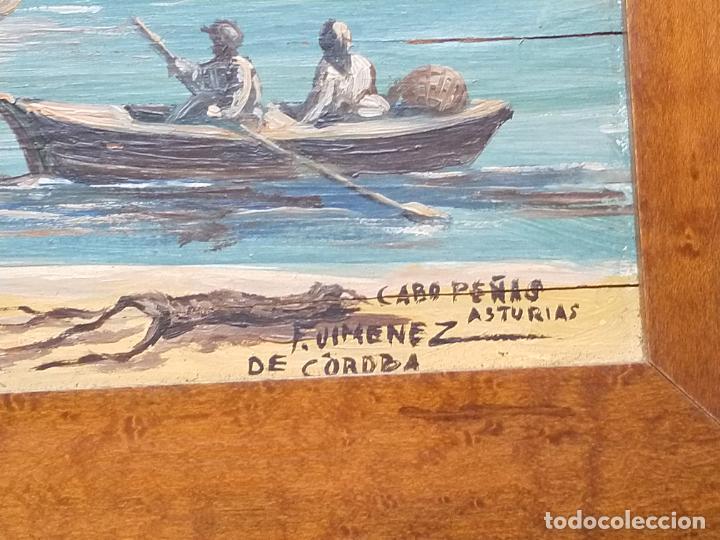 Arte: Magnífica marina del pintor - Francisco Jiménez de Córdoba --- NECESITA RESTAURACIÓN --- - Foto 11 - 199465366