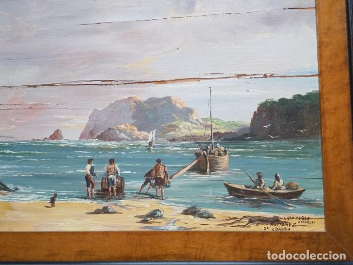Arte: Magnífica marina del pintor - Francisco Jiménez de Córdoba --- NECESITA RESTAURACIÓN --- - Foto 12 - 199465366