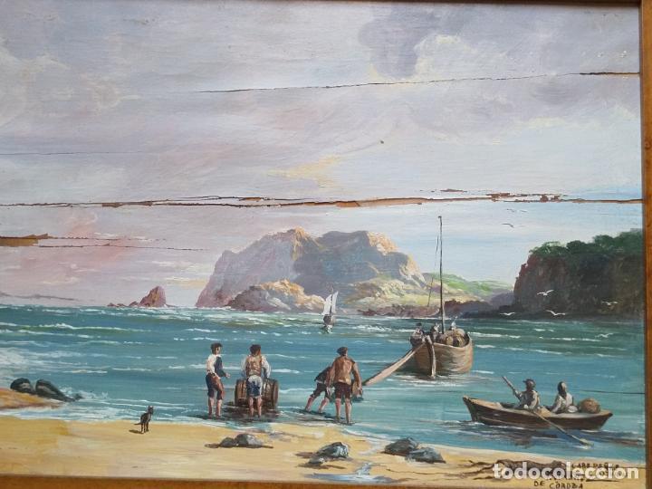 Arte: Magnífica marina del pintor - Francisco Jiménez de Córdoba --- NECESITA RESTAURACIÓN --- - Foto 13 - 199465366