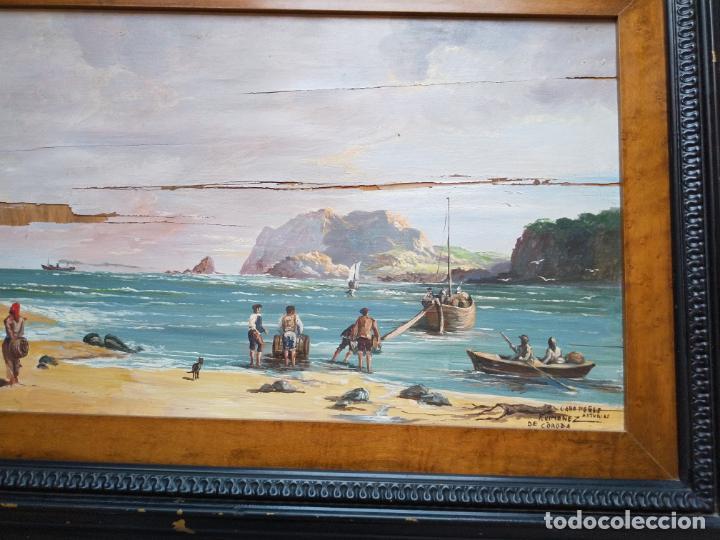 Arte: Magnífica marina del pintor - Francisco Jiménez de Córdoba --- NECESITA RESTAURACIÓN --- - Foto 15 - 199465366