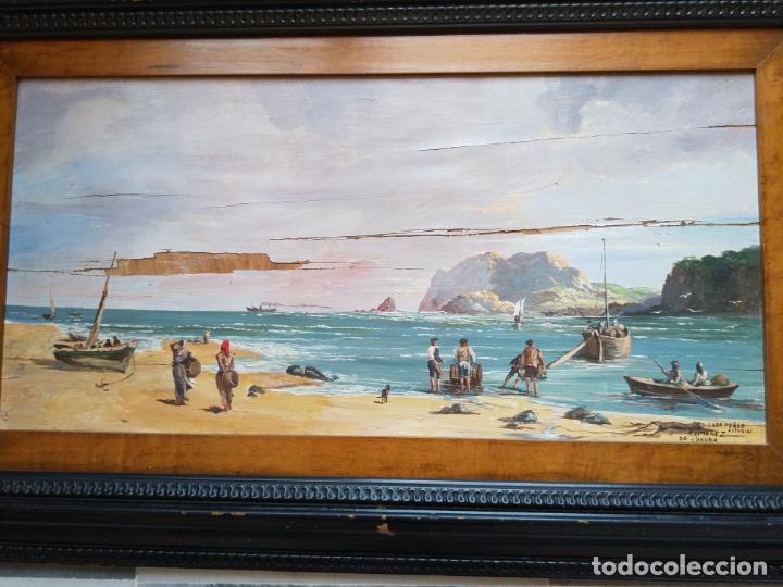 Arte: Magnífica marina del pintor - Francisco Jiménez de Córdoba --- NECESITA RESTAURACIÓN --- - Foto 16 - 199465366
