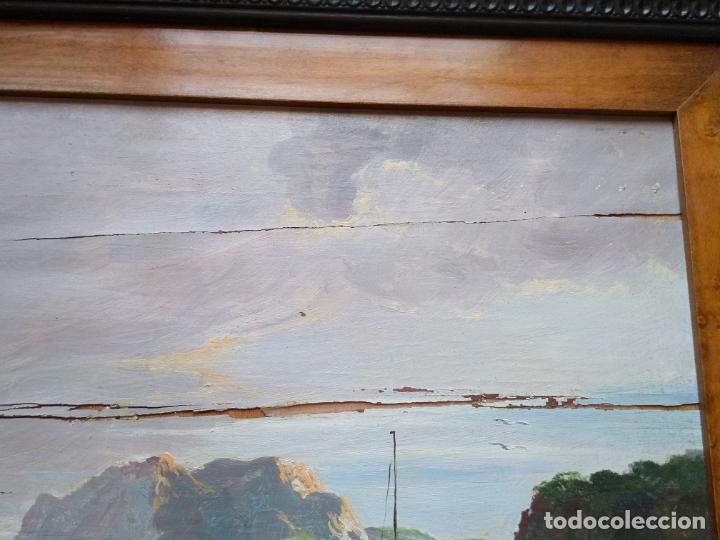 Arte: Magnífica marina del pintor - Francisco Jiménez de Córdoba --- NECESITA RESTAURACIÓN --- - Foto 17 - 199465366