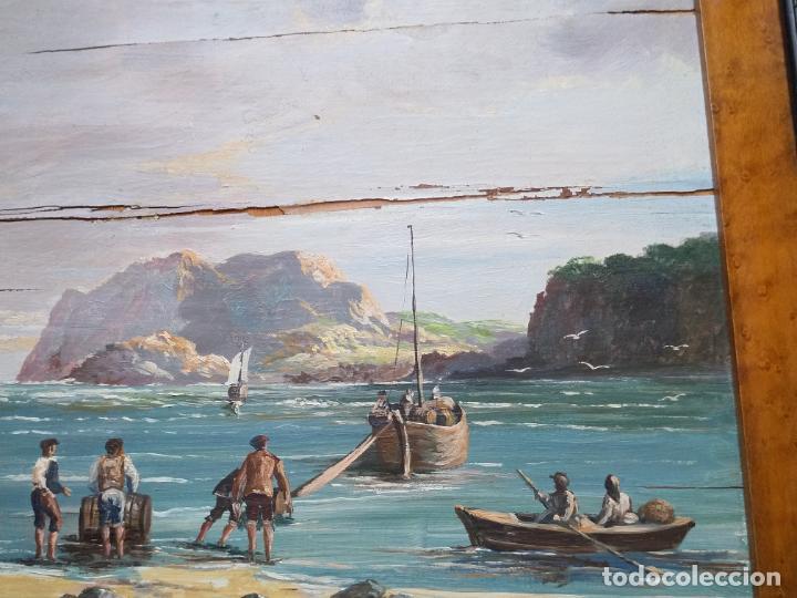 Arte: Magnífica marina del pintor - Francisco Jiménez de Córdoba --- NECESITA RESTAURACIÓN --- - Foto 18 - 199465366