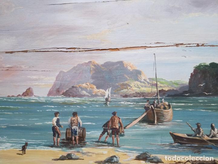Arte: Magnífica marina del pintor - Francisco Jiménez de Córdoba --- NECESITA RESTAURACIÓN --- - Foto 19 - 199465366