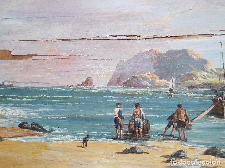 Arte: Magnífica marina del pintor - Francisco Jiménez de Córdoba --- NECESITA RESTAURACIÓN --- - Foto 20 - 199465366