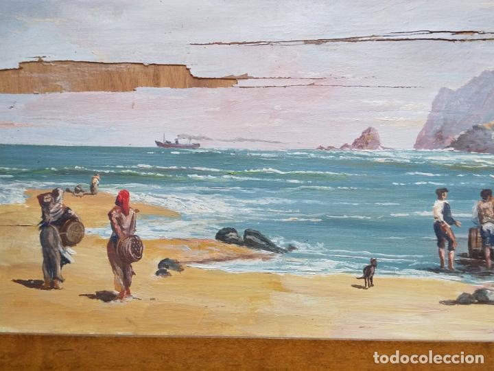 Arte: Magnífica marina del pintor - Francisco Jiménez de Córdoba --- NECESITA RESTAURACIÓN --- - Foto 21 - 199465366