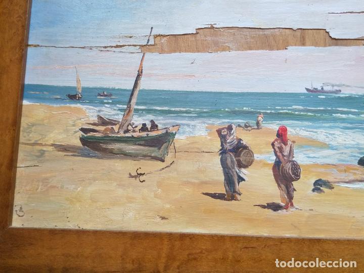 Arte: Magnífica marina del pintor - Francisco Jiménez de Córdoba --- NECESITA RESTAURACIÓN --- - Foto 22 - 199465366