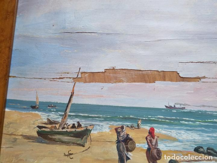 Arte: Magnífica marina del pintor - Francisco Jiménez de Córdoba --- NECESITA RESTAURACIÓN --- - Foto 23 - 199465366