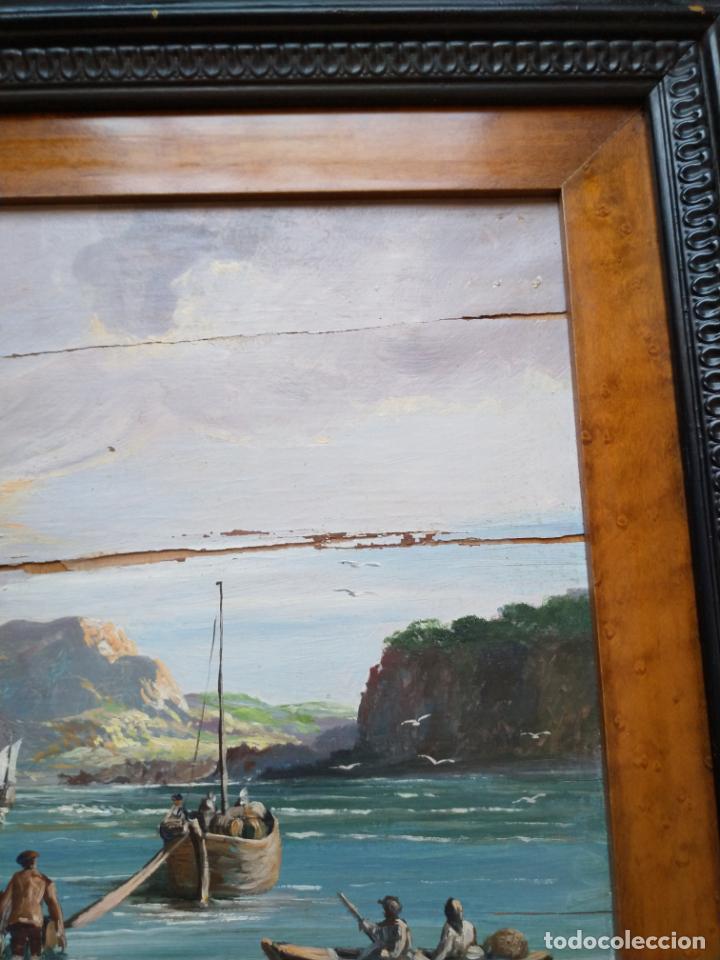 Arte: Magnífica marina del pintor - Francisco Jiménez de Córdoba --- NECESITA RESTAURACIÓN --- - Foto 25 - 199465366