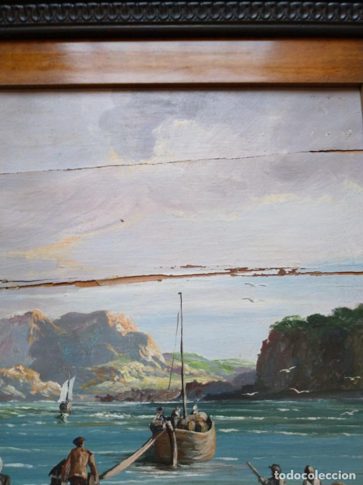Arte: Magnífica marina del pintor - Francisco Jiménez de Córdoba --- NECESITA RESTAURACIÓN --- - Foto 26 - 199465366