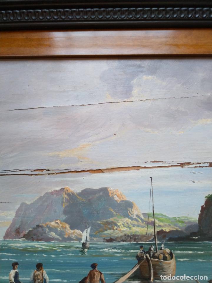 Arte: Magnífica marina del pintor - Francisco Jiménez de Córdoba --- NECESITA RESTAURACIÓN --- - Foto 27 - 199465366