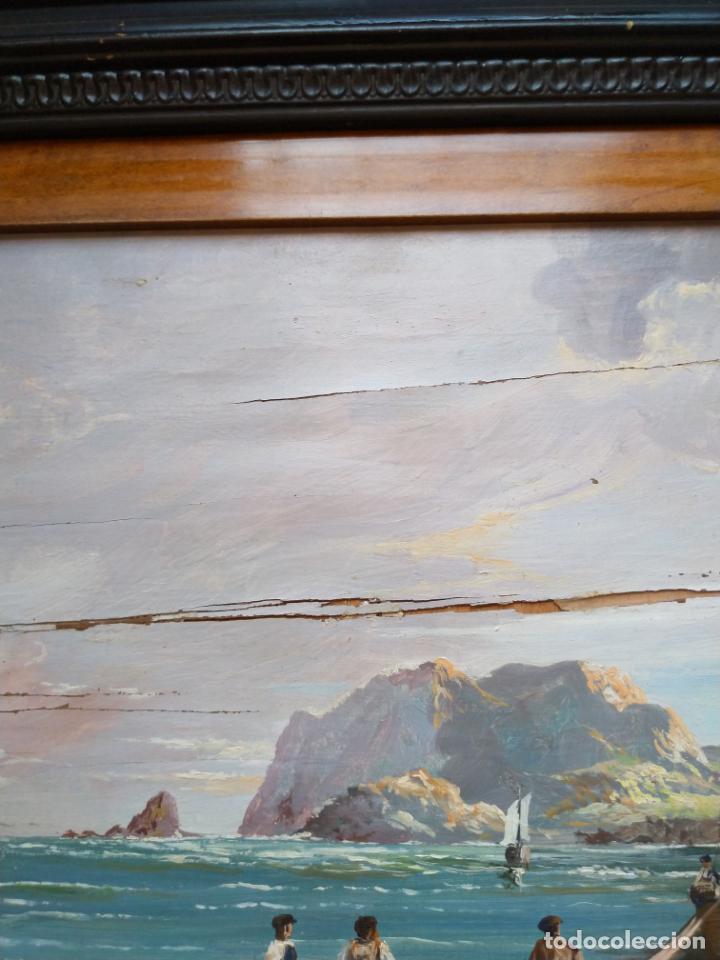 Arte: Magnífica marina del pintor - Francisco Jiménez de Córdoba --- NECESITA RESTAURACIÓN --- - Foto 28 - 199465366