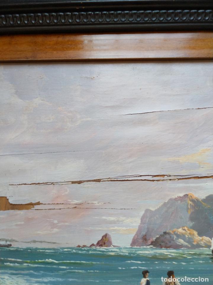 Arte: Magnífica marina del pintor - Francisco Jiménez de Córdoba --- NECESITA RESTAURACIÓN --- - Foto 29 - 199465366