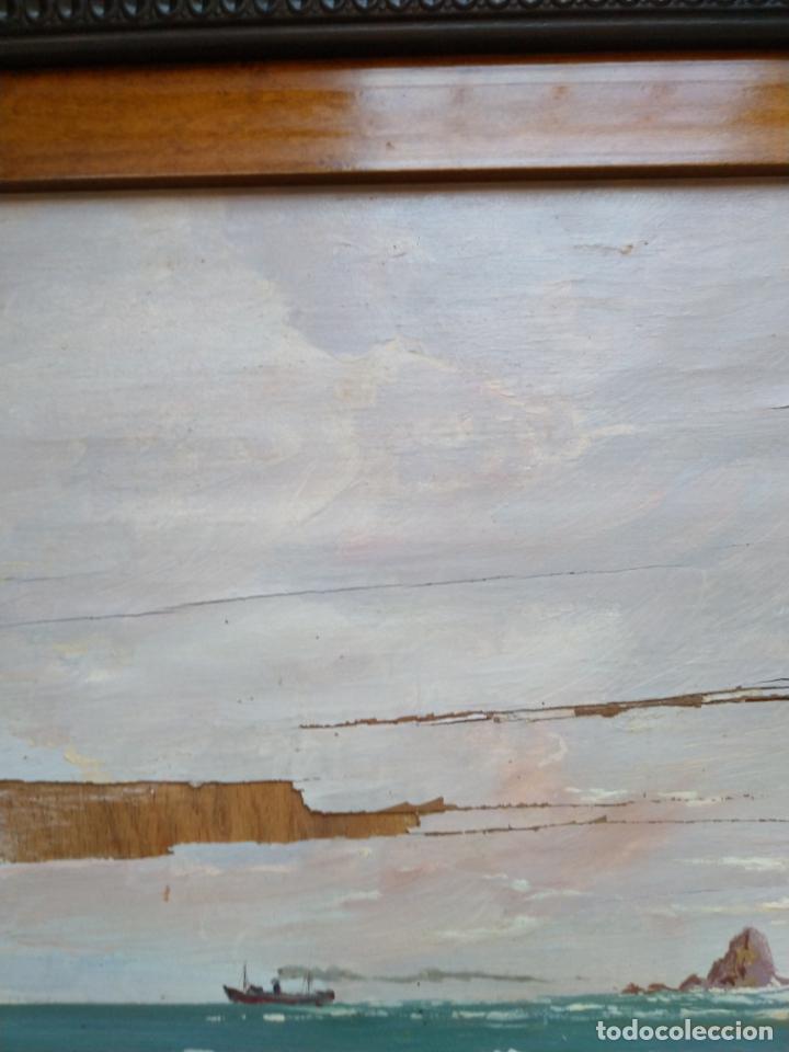 Arte: Magnífica marina del pintor - Francisco Jiménez de Córdoba --- NECESITA RESTAURACIÓN --- - Foto 30 - 199465366