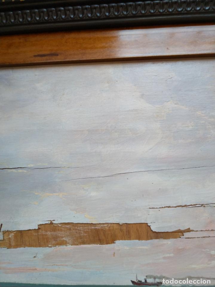 Arte: Magnífica marina del pintor - Francisco Jiménez de Córdoba --- NECESITA RESTAURACIÓN --- - Foto 31 - 199465366