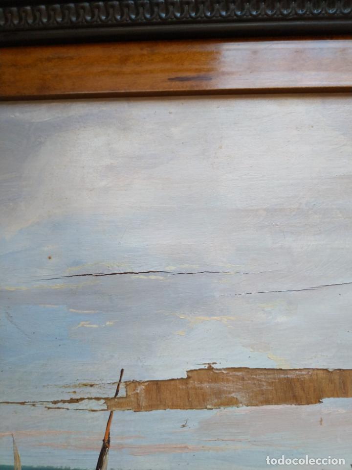 Arte: Magnífica marina del pintor - Francisco Jiménez de Córdoba --- NECESITA RESTAURACIÓN --- - Foto 32 - 199465366