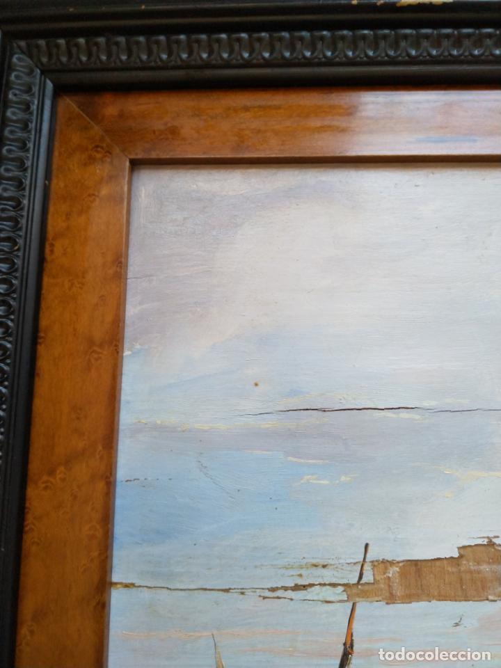 Arte: Magnífica marina del pintor - Francisco Jiménez de Córdoba --- NECESITA RESTAURACIÓN --- - Foto 33 - 199465366