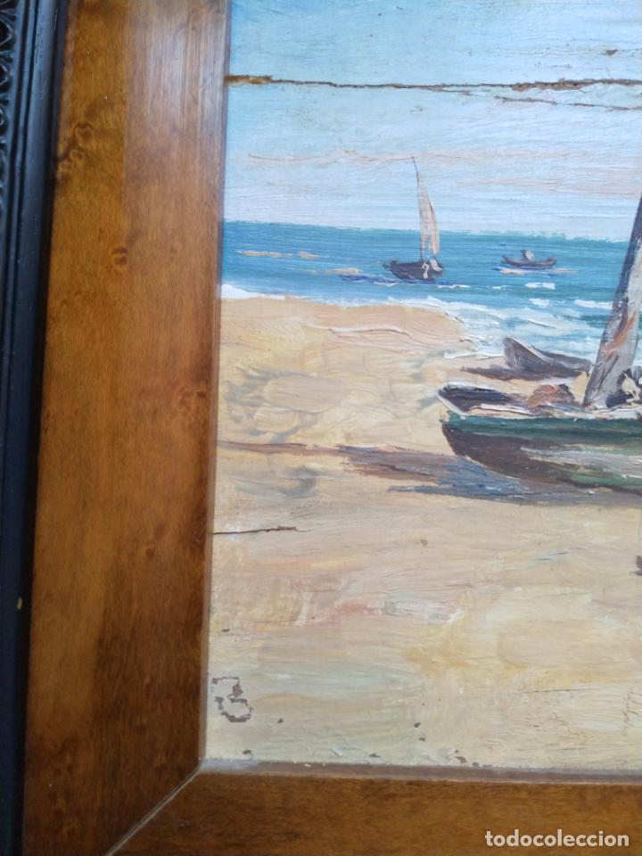 Arte: Magnífica marina del pintor - Francisco Jiménez de Córdoba --- NECESITA RESTAURACIÓN --- - Foto 35 - 199465366