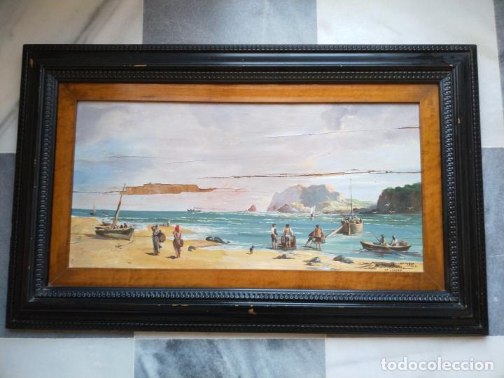 MAGNÍFICA MARINA DEL PINTOR - FRANCISCO JIMÉNEZ DE CÓRDOBA --- NECESITA RESTAURACIÓN --- (Arte - Pintura - Pintura al Óleo Contemporánea )