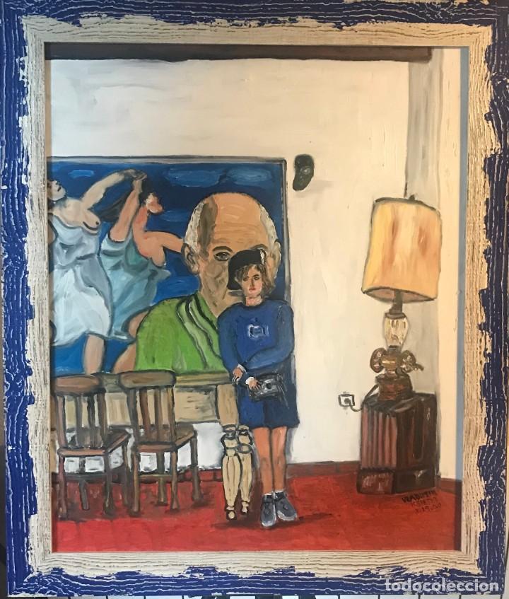 MONET EN CASA (Arte - Pintura Directa del Autor)