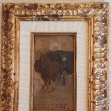 Arte: ESPÍ - CARRUAJE CON CABALLO - DEDICADO AL PERIÓDICO LA CORRESPONDENCIA DE ALICANTE- 1904/1918. Lote 199575476