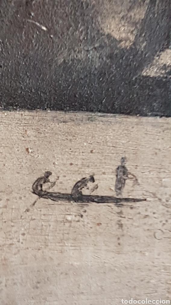Arte: ESCUELA COLONIAL (LA MARTINICA) AÑOS 40-50, PESCADORES Y CASAS CRIOLLAS,ÓLEO / TABLA E,H, 47 x 77´50 - Foto 10 - 195688221
