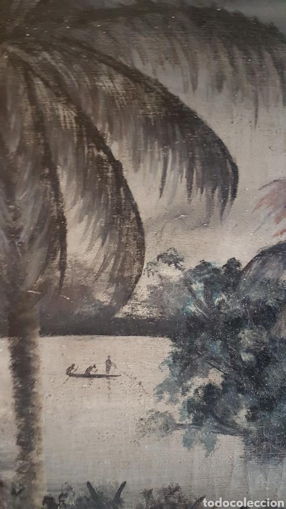 Arte: ESCUELA COLONIAL (LA MARTINICA) AÑOS 40-50, PESCADORES Y CASAS CRIOLLAS,ÓLEO / TABLA E,H, 47 x 77´50 - Foto 11 - 195688221