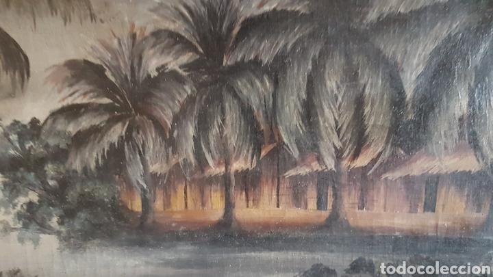 Arte: ESCUELA COLONIAL (LA MARTINICA) AÑOS 40-50, PESCADORES Y CASAS CRIOLLAS,ÓLEO / TABLA E,H, 47 x 77´50 - Foto 12 - 195688221