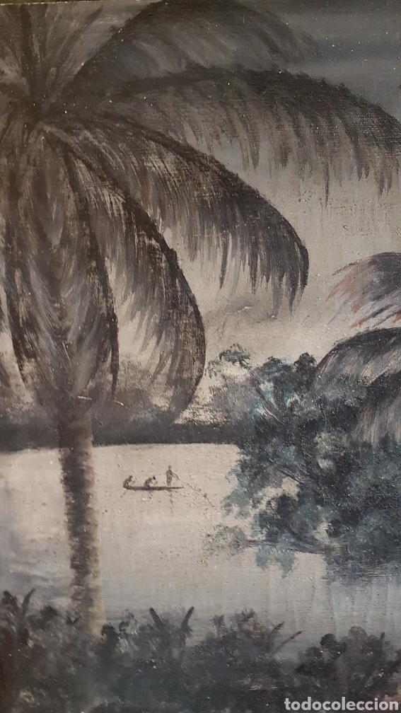 Arte: ESCUELA COLONIAL (LA MARTINICA) AÑOS 40-50, PESCADORES Y CASAS CRIOLLAS,ÓLEO / TABLA E,H, 47 x 77´50 - Foto 13 - 195688221
