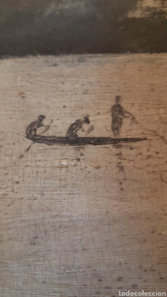 Arte: ESCUELA COLONIAL (LA MARTINICA) AÑOS 40-50, PESCADORES Y CASAS CRIOLLAS,ÓLEO / TABLA E,H, 47 x 77´50 - Foto 16 - 195688221