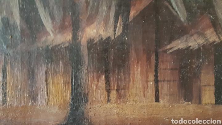 Arte: ESCUELA COLONIAL (LA MARTINICA) AÑOS 40-50, PESCADORES Y CASAS CRIOLLAS,ÓLEO / TABLA E,H, 47 x 77´50 - Foto 18 - 195688221