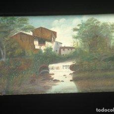 Arte: PAISAJE - ÓLEO SOBRE LIENZO - FINALES SIGLO XIX - FIRMADA. Lote 199650427