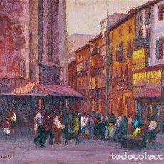 Arte: GONZALO ROMÁN RODRÍGUEZ ( PLAZA MONDRAGÓN, 81X65). Lote 199667667