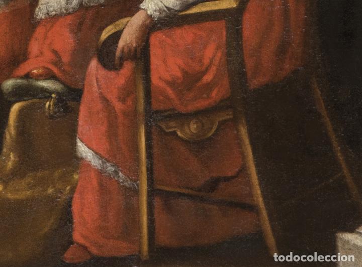 Arte: Óleo lienzo San Buenaventura, superior general de los Franciscanos. Escuela Sevillana S. XVII - Foto 7 - 196572785