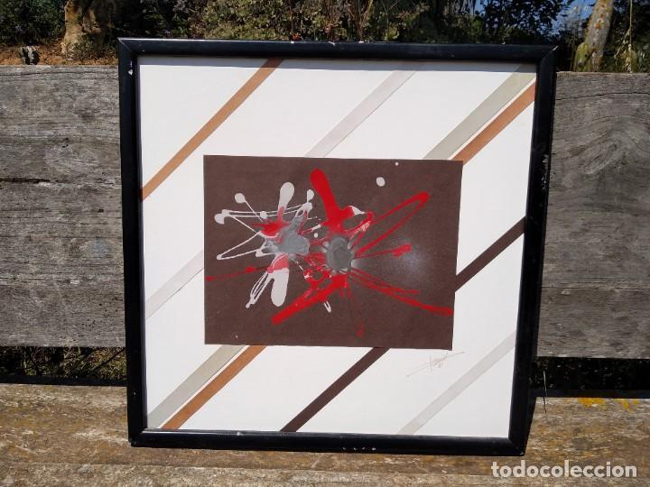 OLEO ABSTRACTO SOBRE PAPEL (Arte - Pintura - Pintura al Óleo Moderna sin fecha definida)