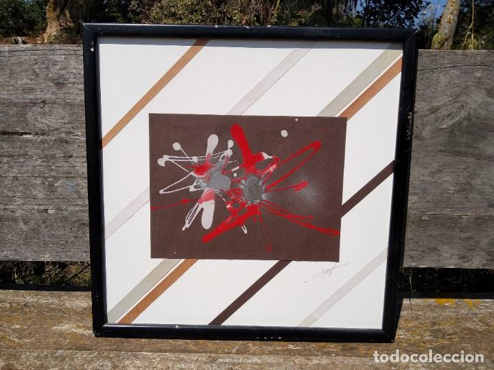 Arte: oleo abstracto sobre papel - Foto 4 - 199732381
