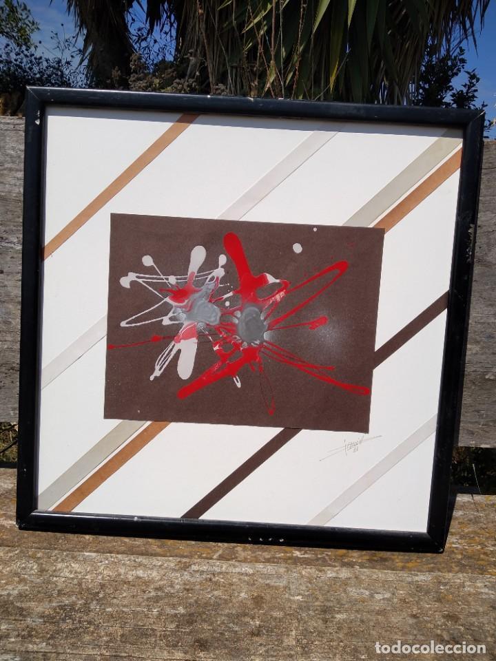 Arte: oleo abstracto sobre papel - Foto 8 - 199732381