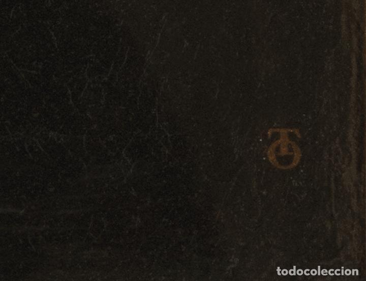 Arte: Óleo lienzo San Francisco de Borja Escuela toledana siglo XIX - Foto 9 - 198041673