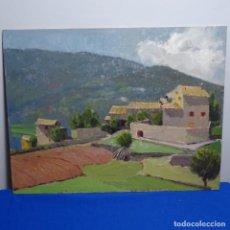Arte: ÓLEO SOBRE TABLEX.ESCUELA CATALANA.BUEN TRAZO.. Lote 199752673