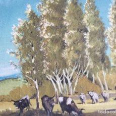 Arte: CUADRO COSTUMBRISTA. ÓLEO SOBRE LIENZO.. Lote 199754235