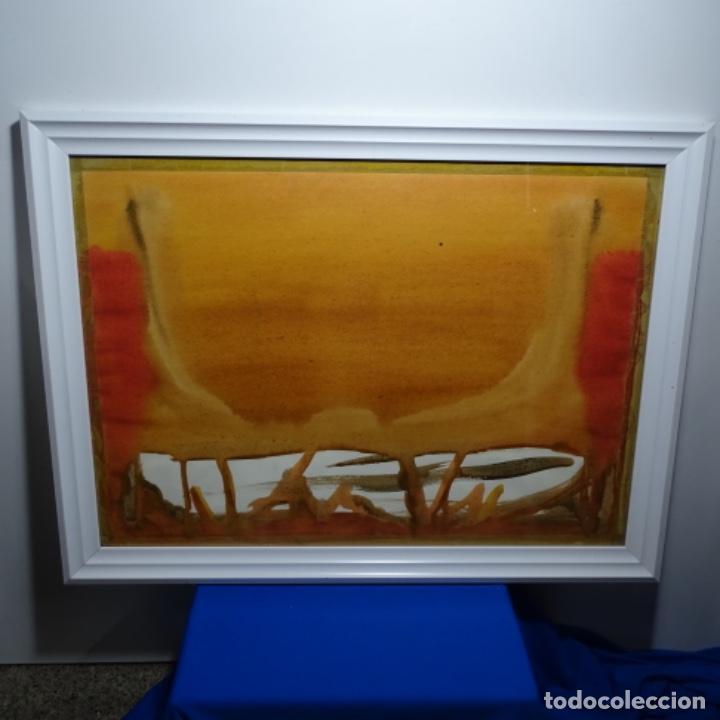 Arte: Tecnica mixta sobre cartulina anonimo.abstracto.tonos suaves. - Foto 2 - 199762556
