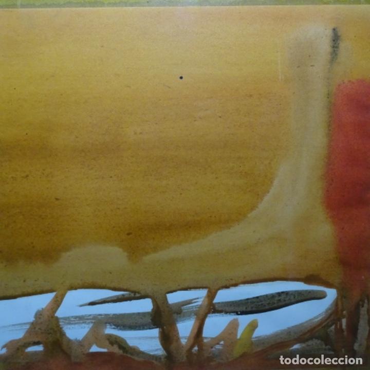 Arte: Tecnica mixta sobre cartulina anonimo.abstracto.tonos suaves. - Foto 4 - 199762556