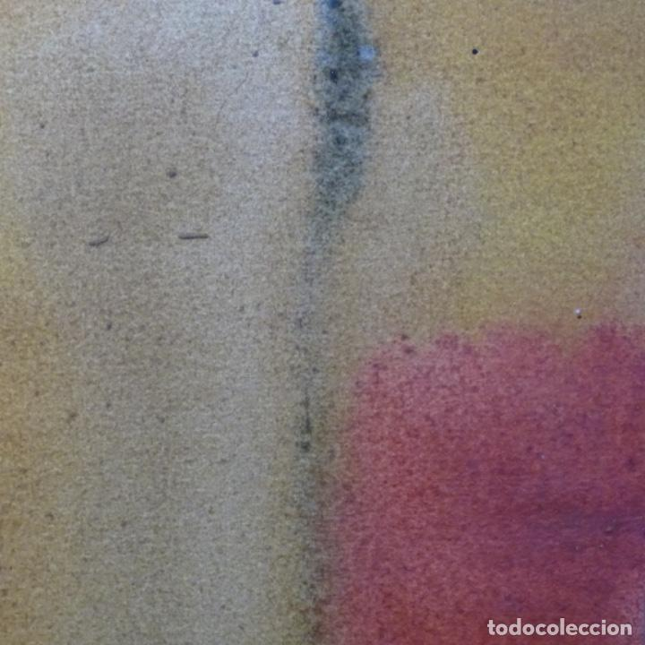 Arte: Tecnica mixta sobre cartulina anonimo.abstracto.tonos suaves. - Foto 7 - 199762556